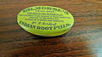 Dr Morse's Indian Root Pills Oval Tin