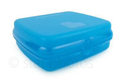 Tupperware Sandwich Keeper Lunch Container in Peakcock Blue - NEW!