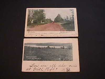 Main Street & Lake Superior Bethel, New York 1908 Postcards