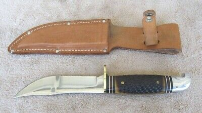 1961-1977 Western USA Fixed Blade Sheath Hunting Knife 9 Inch Never Used Nice