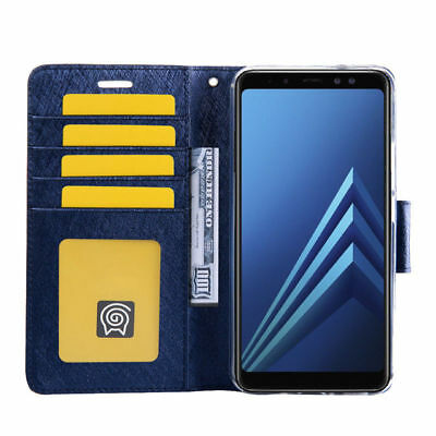 Fits Samsung Galaxy A3 A5 A7 A8 A9 Magnetic Flip Card Wallet Leather Case Cover