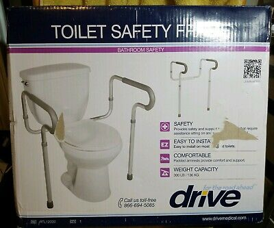 Drive Medical White Toilet Safety Rails