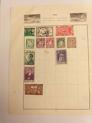 12 x Old Stamp Album Pages World Stamps Collection Kiloware Mix