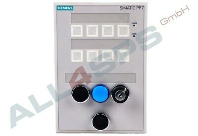 Siemens Push Button Panel Pp7, 6Av3688-3Aa03-0Ax0 (Us)