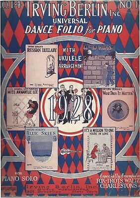 Vtg. Music Sheets for Piano Lot of 5 Books