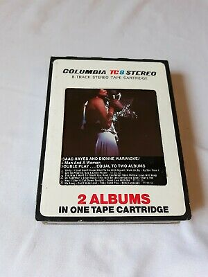 ISAAC HAYES and DIONNE WARWICK- A Man And A Woman- 8 Track tape- Rare-