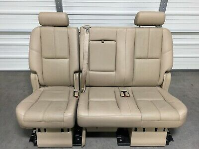 Marvelous 07 14 Gmc Yukon Second 2Nd Row Rear Seat Tan Leather Manual Onthecornerstone Fun Painted Chair Ideas Images Onthecornerstoneorg