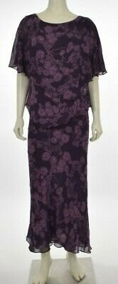 Adrianna Papell Womens Silk Sheer Floral Embellished Blouse & Skirt Suit Size 14