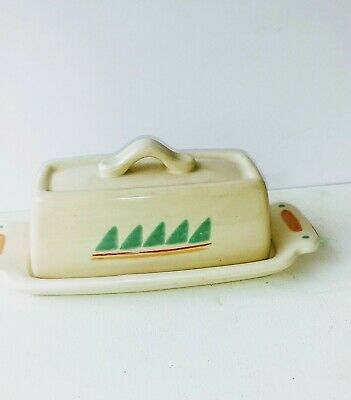 Vintage Treasure Craft Pottery Taos Pattern Butter Dish