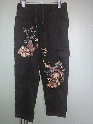 Next Girls Summer Trousers embroidered Age 4 Years 104 cm BNWT RPR £22 D014