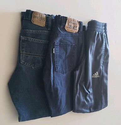 Size 8 Boys Adidas Athletic Pants, Levi's Jeans 514 Straight, Skinny Blue Jeans