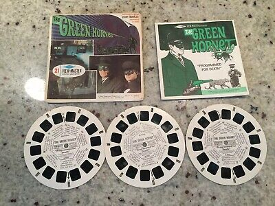 *VINTAGE 1966 SAWYER THE GREEN HORNET VIEW-MASTER REEL PACK Booklet Cover 3 Reel