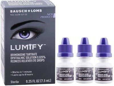 Lumify Redness Reliever Eye Drops 0.25 oz (3 Pack)