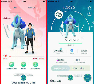 Pokemon Go Account - with Suicune Shiny ! Safe & Cheap ! Read the Description !!