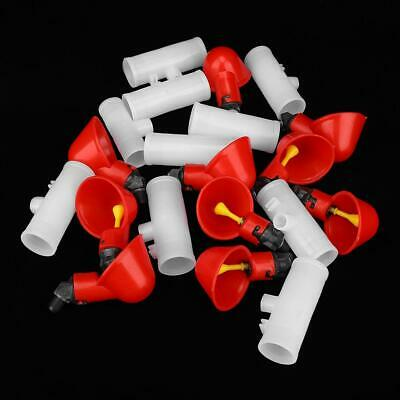 10Pcs Poultry Water Drinking Cups Plastic Chicken Hen Auto Drinker Tool 3 Sizes