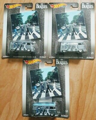 Hot wheels the Beatles Abbey road Volkswagen T1 panel bus lot of 3!!!!HTF!!