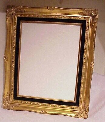 "VINTAGE 19"" x 16""  ANTIQUE STYLE GOLD ORNATE  SHADOW BOX WOODEN PICTURE FRAME"