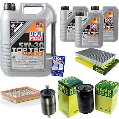 Inspection Kit Filter Liqui Moly Oil 8L 5W-30 for Audi A6 4B
