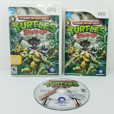 TEENAGE MUTANT NINJA TURTLE: Smash-Up (Nintendo Wii, 2009) COMPLETE with Manual