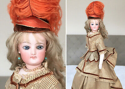 """MAGNIFICENT 16"""" Francois Gaultier ORIGINAL COSTUME Antique French Fashion Doll"""