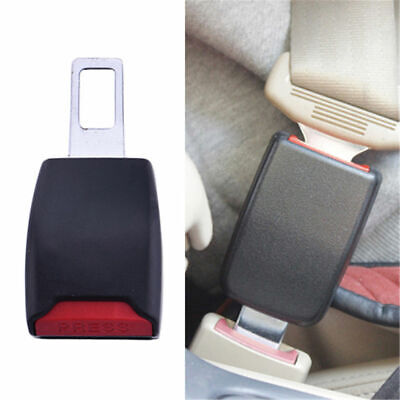 2x Car Universal Safety Seat Belt Extension Buckle Extender Clip Alarm Stopper @