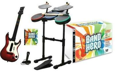 NEW Playstation 3 PS3 BAND HERO Super Bundle Game Set drums, guitar, microphone