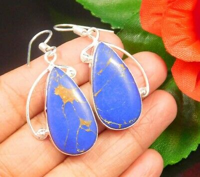 Dashing Sodalite .925 Silver Plated Handmade Earring Jewelry JC944