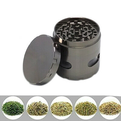 Metal Zinc Alloy Tobacco Herb Grinder 4-Layers Hand Muller Smoke Crusher NEW
