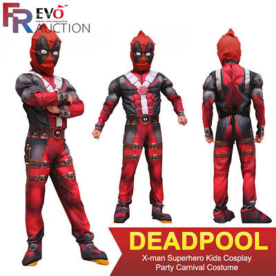 Carnaval Enfants Deadpool X-Man Fête Du Super-Héros Cosplay Costume