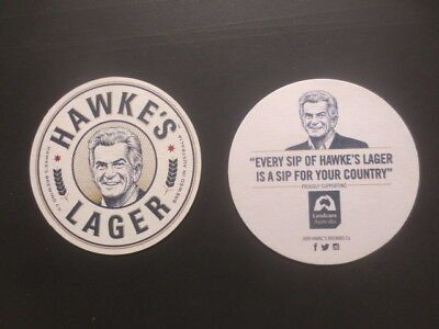2 different HAWKE,S BREWING Co / Lager Issue,Beer Coasters
