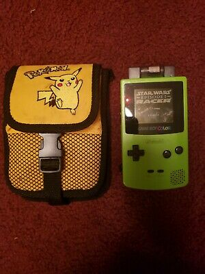 Nintendo Game Boy Color with Pokemon Case & StarWars Racer Works Great.....