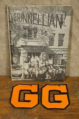 1956 Grinnellian Grinnell Iowa Year Book & Letter Jacket Letters