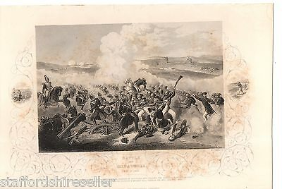 Antique Victorian Print Crimean War Vintage c1860 Battle Eupatoria Feb 17 1855