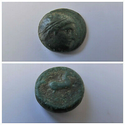 Philip II Alexander the Great Dad OLYMPIC GAMES Ancient Greek Coin Horse FG107