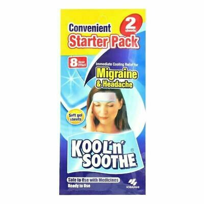 KOOL n SOOTHE◉2 Soft Gel Sheets for Migraine & Headache◉Immediate Cooling Relief