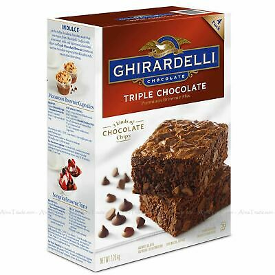 Ghirardelli Triple Chocolate chip Brownie Cake Premium Mix Pack of 4 Batches