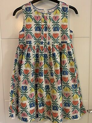 Girls John Lewis Floral Cotton Dress Size 9 Years