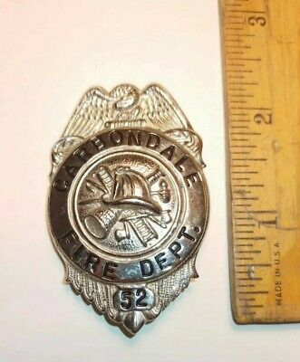 Obsolete Carbondale NY #52 Fire Dept Fire Fighter Badge