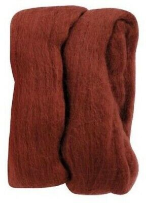 Natural Roving Wool - Rust