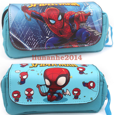 Spider-Man:Homecoming Zipper Pencil Box Case Pen Stationery Bag Make Up Pouch