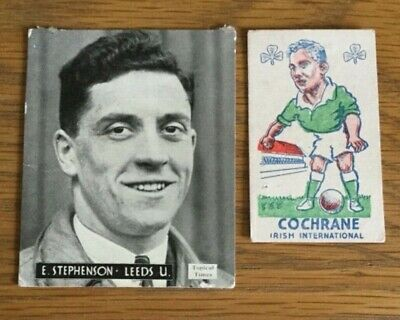 LEEDS UTD  1940s 2 x Diff Trade Cards  Sports Favourites TOPICAL times