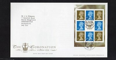 GB QE II 2003  pane SG 1664o from A Perfect Coronation prestige booklet FDC