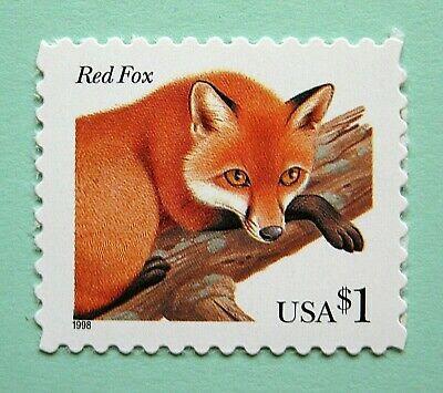 Sc # 3036 ~ $1 Red Fox Issue (dh22)
