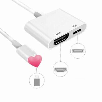 Lightning to HDMI Digital AV TV Cable Adapyer For Apple Ipad Iphone X 6 7 8 Plus