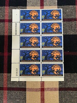 Block of 10 UnUsed US Postage 10 Cent Stamps The Legend of SLEEPY HOLLOW