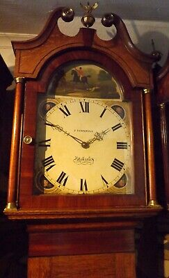 Antique 30 Hour Longcase/Grandfather Clock J Turnbull, Stokesley