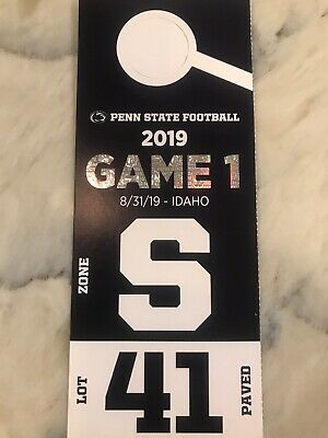 Penn State Football Vs Idaho - Game 1 - Lot 41 Preferred Paved Parking - 8/31/19