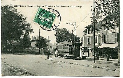 CPA - Carte Postale - France - Chatenay - Route de Versailles - Point Terminus