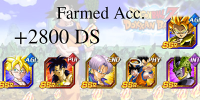🌟Gogeta, PUI Broly, Gohan, Cell🌟 Dokkan Battle - Farmed Global Android