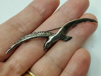 Vintage Sterling Silver Old Mexico Flying Bird Pin/Brooch Beautiful!